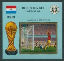 Paraguay 1973 Fußball-WM Deutschland Block 207 Postfrisch (C22614) - Paraguay