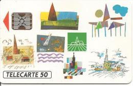 CARTE°-PUCE-PRIVEE-PUBLIC- 50U-EN438-SC5-09/92-GROUPAMA-R°Mat-UTILISE-TBE - 50 Einheiten