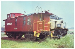 MONON CABOOSE NUMBER C-302, KENTUCKY RAILWAY MUSEUM, LOUISVILLE (USA, 1980´s) - Eisenbahnen