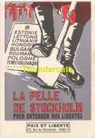CPA ILLUSTRATEUR MICHAT LA PELLE DE STOCKHOLM ESTONIE LETTONIE LITHUANIE HONGRIE - Evènements