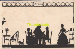 CPA ILLUSTRATEUR ELSBETH FORCK SILHOUETTE ** ARTIST SIGNED CARD ELSBETH FORCK SILHOUET - Silhouettes