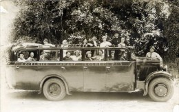 Carte-Photo Autocar No 8   Excelsior Garage à LOURDES - Buses & Coaches