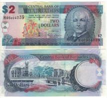 BARBADOS   2  Dollars    P66a     1.5.2007   UNC - Barbados