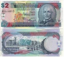 BARBADOS   2  Dollars    P66c   Signature  Warrell      2.5.2012   UNC - Barbados