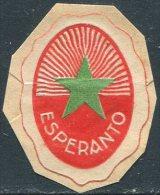 ESPERANTO Cinderella Poster Stamp Label Vignette Reklamemarke Viñeta - Esperanto