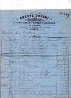 1868 FIRENZE -  ORESTE COCCHI - NEGOZIANTE DI STAMPE QUADRI - Italia