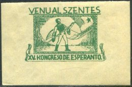 ESPERANTO Hungary Ungarn Hongrie 1941 Cinderella Poster Stamp Label Vignette Reklamemarke Viñeta - Esperanto