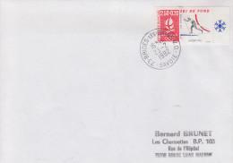Enveloppe   JEUX  OLYMPIQUES  D´  HIVER    Oblitération  Du  VILLAGE  OLYMPIQUE    BRIDES  LES  BAINS    1992 - Invierno 1992: Albertville