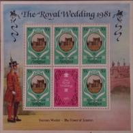 Antigua MNH Sheetlets : Anniversary Of Royal Wedding 1981 - Timbres