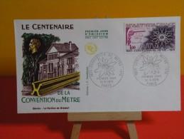 FDC- Centenaire De La Convention Du Mètre - Paris - 31.5.1975 - 1er Jour, - FDC