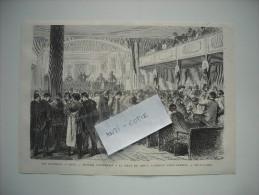 GRAVURE 1869. LES ELECTIONS A PARIS. REUNION ELECTORALE A LA SALLE DU GENIE, FAUBOURG SAINT-ANTOINE. - Stampe & Incisioni