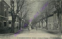 26. SAINT MAURICE D'HOSTUN . Avenue De Romans .  CPA Animée ; - Otros Municipios