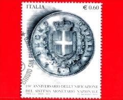 ITALIA - Usato - 2012 - 150º Anniversario Della Lira Italiana - 0,60 € • Moneta Da 1 Lira Del 1862 - 2011-...: Usati