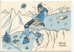 Moi J'aime Les Fleurs, Pas Vous ? Claude Verrier Illustrateurs - Ames Vaillantes De Souhaite De Bonnes Vacances (neuve) - Humour