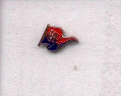 13-ebarca6. Pin Futbol. Banderín Y Escudo  Barcelona C.F. - Fútbol