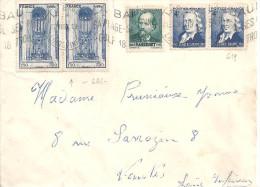 N°666 X 2 - 545 - 919  Sur Lettre De LA BAULE De 1949 - Postmark Collection (Covers)