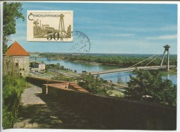 SNP Bridge Over The Danube At Bratislava - Ponts
