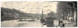 HENNEBONT . CARTE DOUBLE . Vue Panoramique Du PORT Et Le PONT . . Precurseur Vt1903. 2 Scans - Hennebont