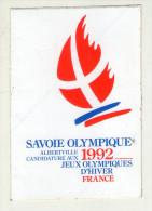 AUTOCOLLANTS . STICKER . SAVOIE OLYMPIQUE ALBERTVILLE . 1992 . CANDIDATURE AUX  JEUX  OLYMPIQUES  D'HIVER  FRANCE - Aufkleber