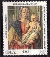 """PIA - ITALIA - 2001 : La """"Madonna Di Senigallia"""" Di Piero Della Francesca  - (SAS  2550) - 6. 1946-.. Republic"""