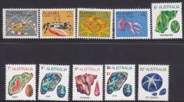 AUSTRALIA, 1970 MARINE LIFE/GEMS 10 MNH - 1966-79 Elizabeth II