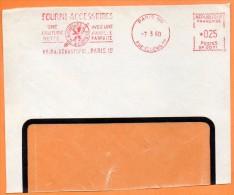 PARIS  UNE COUTURE NETTE AVEC UNE AIGUILLE PARFAITE  1960 Devant De Lettre  N° EMA 3679 - Postmark Collection (Covers)
