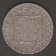 CECOSLOVACCHIA 10 KORUN 1930 AG SILVER - Cecoslovacchia