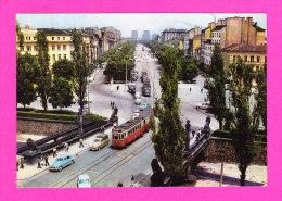 E-Bulgarie-06P2  SOFIA, Le Boulevard G. Dimitrov, Animation, Vieilles Voitures, Tramway, BE - Bulgarie