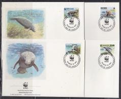 Guyana 1993  WWF /  Mammals  4v 4 FDC (W759) - W.W.F.