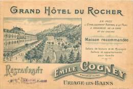 38 - URIAGE LES BAINS - GRAND HOTEL DU ROCHER - EMILE COGNEY - Uriage
