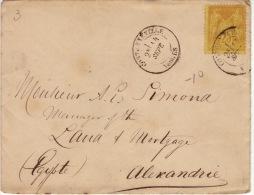 VOSGES - Contrexville- Enveloppe -CAD-Type18- 1883 - Marcofilia (sobres)