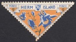 Herm Island, 9 P. 1954, B&F # 29.P, MH. - Local Issues