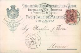 Ae558 - Giulianova - Teramo - Commerciale - Ditta Pasquale De Martiis-1897 - Teramo