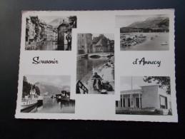 ANNECY Souvenir Multi Vues Noir Et Blanc  Années 50 - Souvenir De...