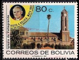 B345 - Bolivia 1987 - Visit Of Pope John Paul II Used - Bolivia