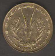 ETATS DE L´AFRIQUE DEL´OVEST 10 FRANCS 1976 - Monete