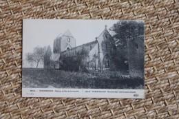 Carte Postale Ancienne Guerre De 1914 Sommesous Eglise Pillée Et Incendié - Frankrijk