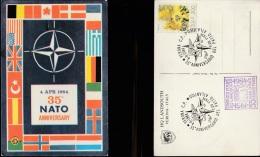 3856) VERONA LANDSOUTH ANNIVERSARI PATTO ATLANTICO TIMBRATA 1984 - Eventi