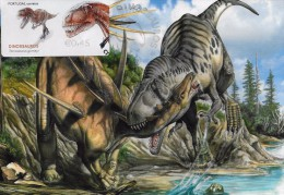 CARTE MAXIMUM - MAXICARD - MAXIMUMKARTE - MAXIMUM CARD - PORTUGAL - DINOSAURES AU PORTUGAL - Torvosaurus - TAUX 0,45 - Timbres