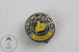 Vintage BULTACO Cemoto Round Motorcycle Logo Badge - Alfa Romeo