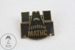 Vintage Formula 1 Team - Scuderia Mathc Old Racing Badge - Alfa Romeo