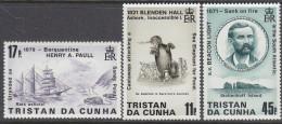 TRISTAN DA CUNHA, 1987 SHIPWRECKS 3 MNH - Tristan Da Cunha