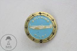 Old WWII Spitfire Pilot Fighter Aircraft Brooch/ Badge - Transportes