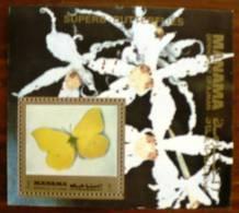 Manama PAPILLONS + Orchidée (BF 1). Neuf Sans Charniere. MNH - Mariposas