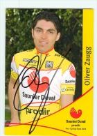 Oliver ZAUGG, Autographe Manuscrit, Dédicace . 2 Scans. Cyclisme. Saunier Duval 2004 - Cycling