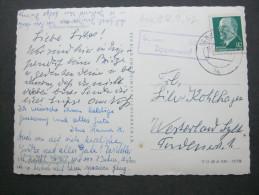 1967, SCHWERIN Zippendorf , Landpoststempel auf Karte