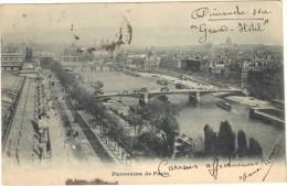 75 - Cpa - Panorama De PARIS - Arc De Triomphe