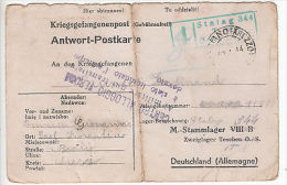 Italy: PoW Prisoner Of War Postcard, Stalag 344, To Arezzo, 18 April 1944 - Militaria