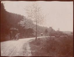 Photo Ancienne 1904 Attelage En Dessous De La Croix Trevin Loire - Lieux