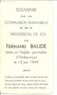 Herbeumont Fernande Baude Communion Solennelle 12 Juin 1949 - Herbeumont